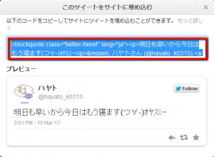 2013 03 14 2130 300x221 【Twitter】検索エンジンに自分のツイートを表示させる方法