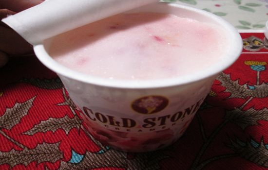 IMG 0226 【食べ物】グレープフルーツ味が強い!セブン イレブンのコールド・ストーンベリーホワイトプリンセスを食べてみたよ!