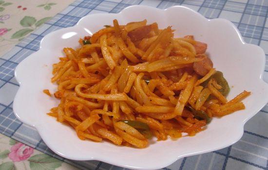 IMG 0263 【食べ物】うどんをパスタと間違えてナポリタンを作った結果wwwうどんナポリタンになったw