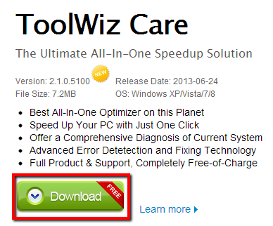 2013 07 07 2325 【ITサービス】多彩な最適化機能を備えたPCメンテナンスソフト「ToolWizCare(ツールウィズケア)」が便利