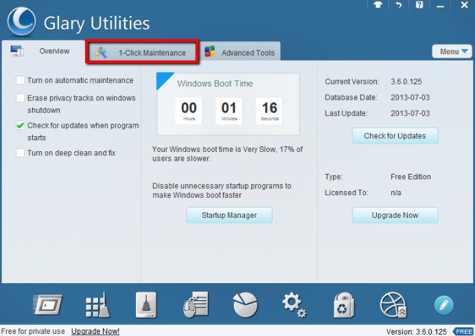 2013 07 10 2304 【ITサービス】PC簡単メンテナンス!「GlaryUtilities(グラリーユーティリティーズ)」の使用方法