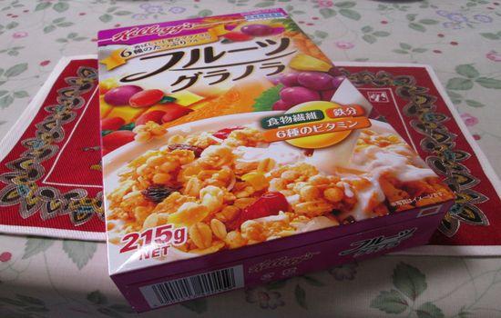 IMG 0446 【食べ物】フルーツグラノーラが人気すぎる!私もケロッグ「フルーツグラノラ」に豆乳をかけて食べてみましたよ!