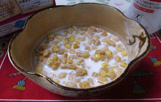 IMG 0451 【食べ物】フルーツグラノーラが人気すぎる!私もケロッグ「フルーツグラノラ」に豆乳をかけて食べてみましたよ!