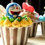 Doraemon cupcake  - ドラえもん カープ ケイキ