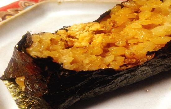 2013 09 23 16.37.01 【食べ物】まるでお焦げご飯?セブン イレブンの「手巻おにぎり玉子かけ風鶏そぼろ飯」を食べてみた感想です