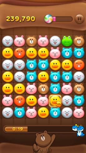 2013 12 30 1316 【LINEPOP】時間を止める!iPhoneを使って消したいブロックをゆっくり探す裏技【高得点】