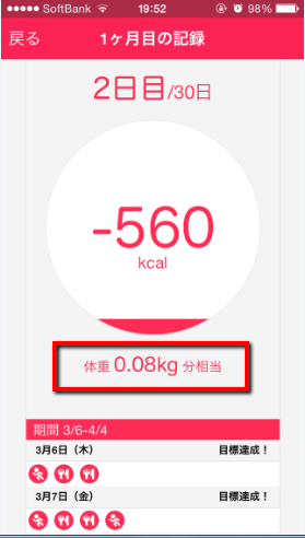 2014 03 07 2044 【iPhone】クックパッドから登場!80kcal単位でカロリー消費!おすすめの無料ダイエットアプリ「やせ習慣」の使い方