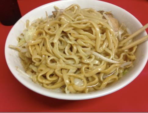 2014 08 31 1325 【食べ物】ラーメン二郎に久しぶりに訪問!麺半分なのに量があまりにも多過ぎてワロタw【千住大橋】