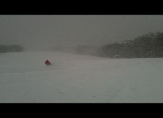 すごい吹雪だった